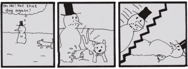The Snowman killed a dog.