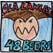 Ola Lawless in the beer drinking contest with 48 beers.
