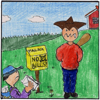 Ola Lawless doesn't like bills in the mail.